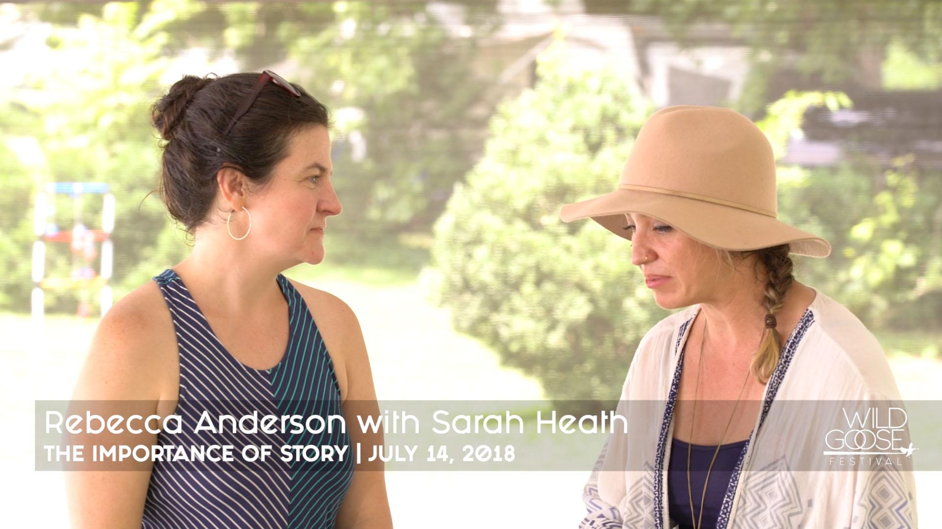 Rebecca Anderson with Sarah Heath