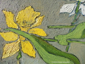 Detail from Daffodils, Tulips & Narcissus in a Storm
