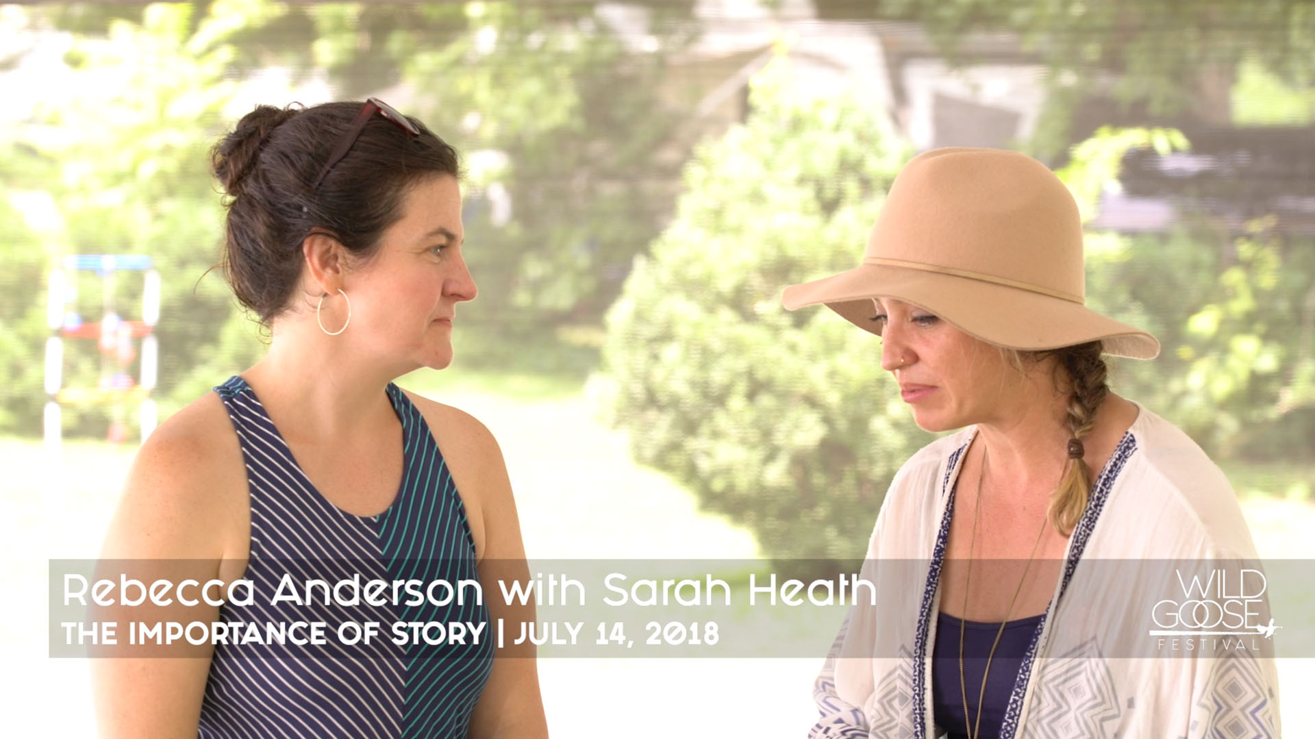 Rebecca Anderson with Sarah Heath