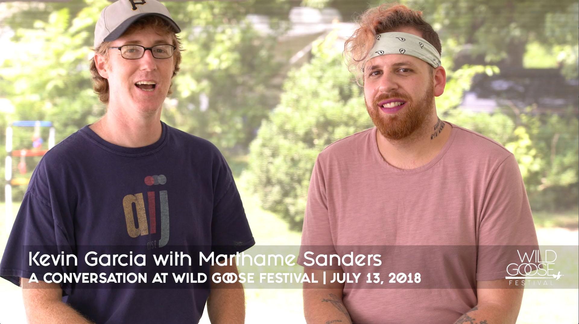 Kevin Garcia with Marthame Sanders