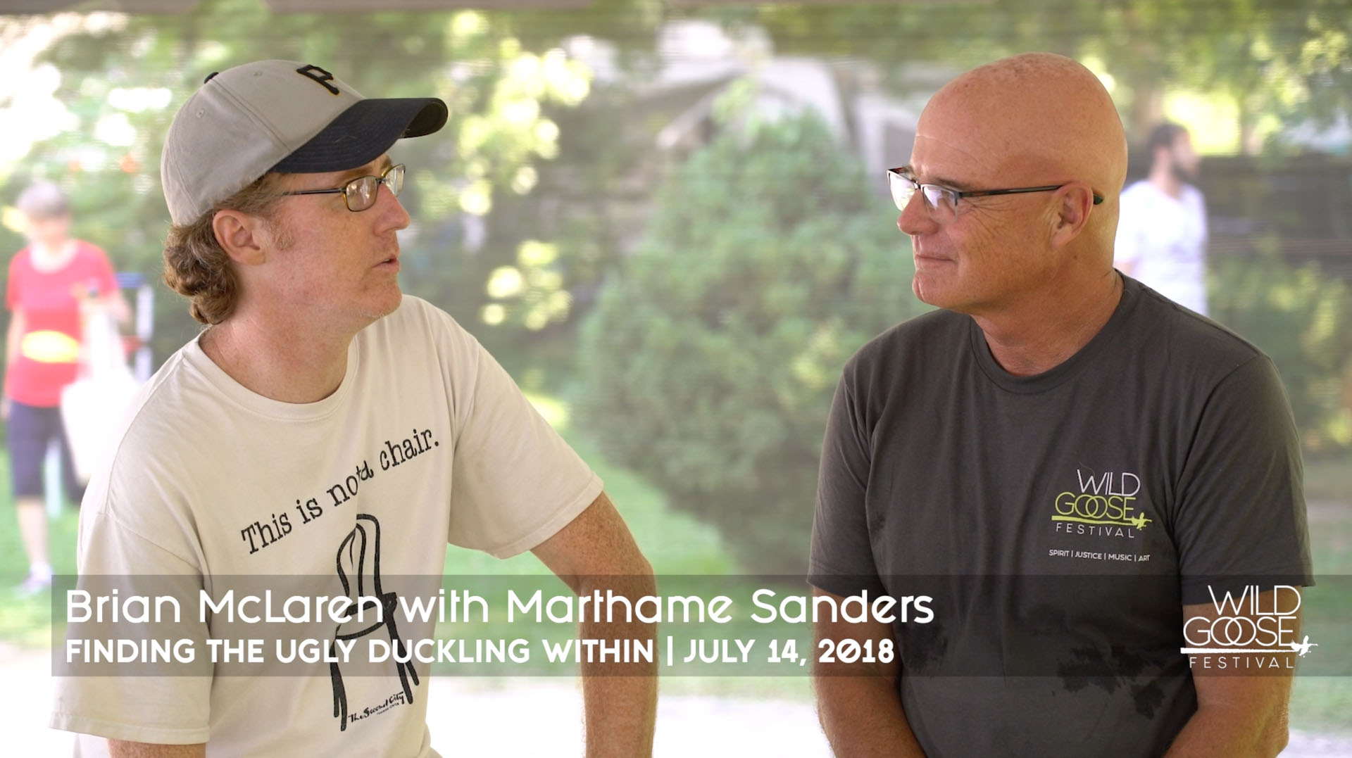Brian McLaren with Marthame Sanders